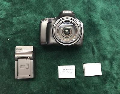 Canon PowerShot SX40 HS 12.1MP Digital Camera w/ 2 batteries and charger *WORKS*
