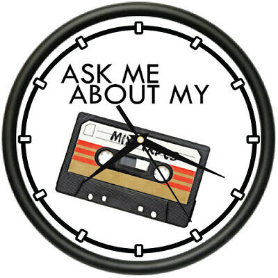 ASK ME ABOUT MIXTAPES Wall Clock dj disk jockey music lover old school gift