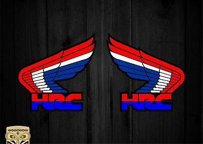 Pegatina Decal Sticker Autocollant Aufkleber Honda Hrc Wings X2 Laminated