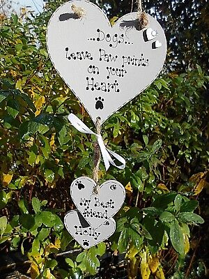 💖💖Personalised Dogs leave paw prints...on your heart, sign, plaque  gift,💖💖