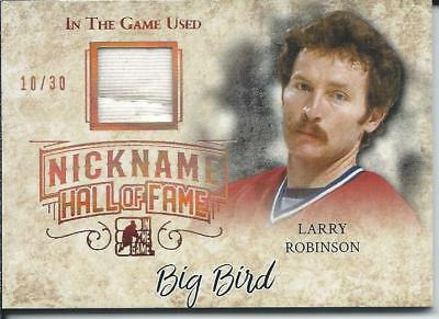 2017-18 2018 Leaf ITG Used Nickname Hall of Fame LARRY ROBINSON Jersey 10/30
