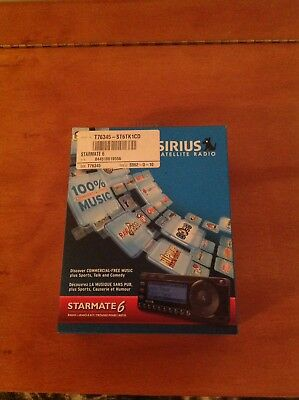 Sirius Satellite Radio Starmate 6 With Car Kit ST6TK1CD