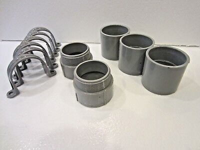 """2"""" PVC Conduit Couplings - Male Adapters - Clamps"""