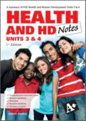A+ Health and Human Development Notes VCE Units 3 & 4 1st Edition