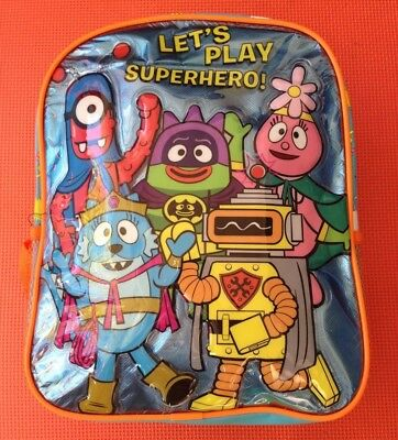 yo gabba gabba superhero backpack kid bag brand new rare plex