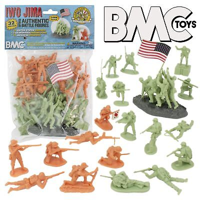 32pc WW2 Soldier Figures Made in USA BMC Toys SG/_B07KDXFR6P/_US BMC Classic Marx Japanese Plastic Army Men