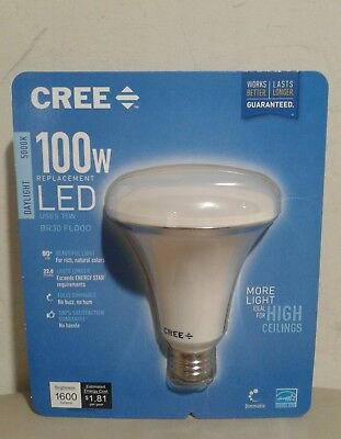 New Seal ! CREE 100W Equivalent Daylight (5000K) BR30 Dimmable LED Light Bulb