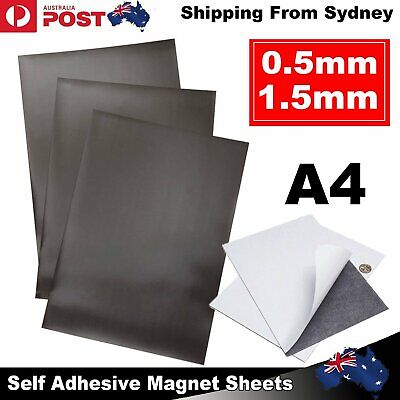 1-10x A4 Magnetic Magnet Sheets Self Adhesive Thickness Crafts Materia 0.5/1.5mm