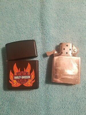 ZIPPO Full Size matte black HARLEY-DAVIDSON Windproof Lighter!
