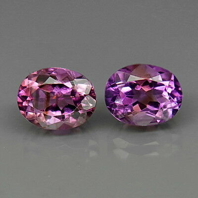 Oval 10x8 mm.PAIR! Real 100%Natural Amethyst Bolivia None Treatment 6.24Ct.