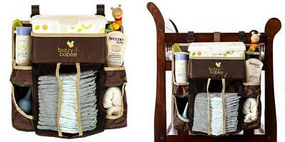 Buzzy Babee Diaper Change Organizer, Brown/Coffee Perfect Caddy & Playard...