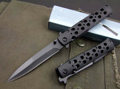 New EDC Black Tactical Folding Pocket Knife Fishing Outdoor Survival Saber Gift