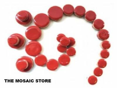 Red Ceramic Discs - Round Tiles - Circles for Mosaic Art Craft Supplies