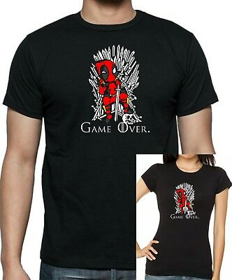 Marvels DEAD POOL / GAME OF THRONES T-shirt .... available in sizes up to 5XL