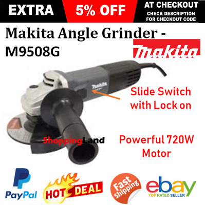 Makita 5 Inch Angle Grinder 125mm MT Series 720W Corded Electric -  M9508G New