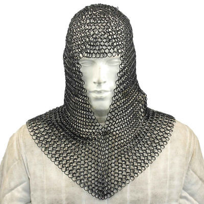 "Medieval Knight Mild Steel Butted Chainmail 50/"" Chest Ancient Chain Mail LARP"