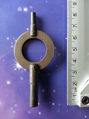 Size 6 Antique Vintage Clock Winding Winder Key Mantle Grandfather 8Cm Long