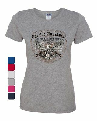 421f6ee6c53d The 2nd Amendment Women's T-Shirt We the People Bald Eagle Rifles 2A USA Tee