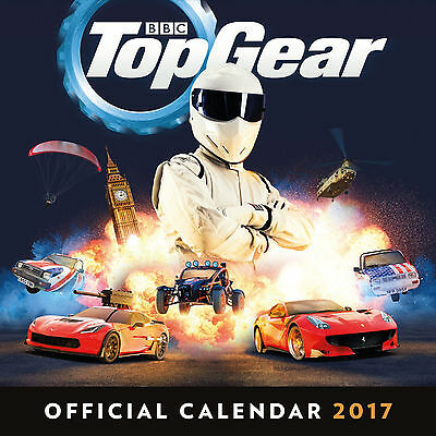 Top Gear 2017 Official Square Wall Calendar Brand New 9781785491306