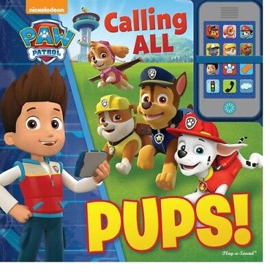 Nickelodeon Paw Patrol Calling All Pups My Own Phone Button Sound Toy And Book