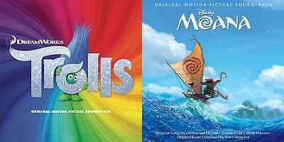 TROLLS and MOANA Original Motion Picture Soundtrack Double Pack Brand New Sealed