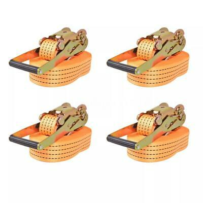 Sangle d'arrimage à cliquet 4 pcs 4 tonnes 8 m x 50 mm Orange N7M7