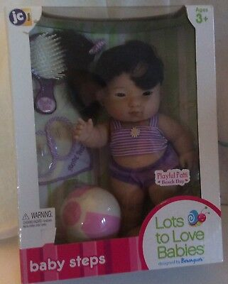 "BERENGUER LOTS TO LOVE BABY STEPS Playful Patti 10"" Asian Doll BNIB#17502"