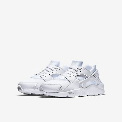 hot sale online 7038f 48f7d Nike Huarache Run Gs 654275-110 Grade School White Platinum Boys Girls  Womens