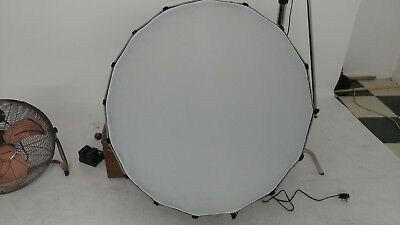 90cm 16 Rods parabolic photography studio lighting softbox difffuser w/mount.