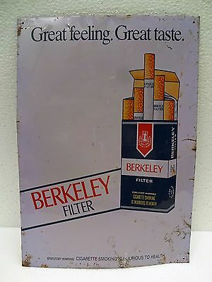 Vintage Advertising Tin Sign Berkeley Cigarettes Old Tobacciana Collectibles # 2
