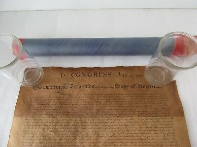 Reproduction of the Declaration of Independence Scroll John Hancock Insurance Ad