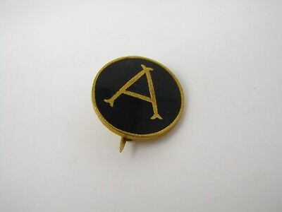 Vintage Collectible Pin: Antique Letter A Beautiful Design