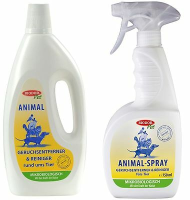 Biodor® Pet Animal 1000ml + Biodor® Pet Animal-Spray 750ml (zum Wiederbefüllen)