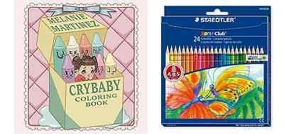 Colouring Pack Cry Baby Colouring Book Melanie Martinez 24 Staedtler Pencils