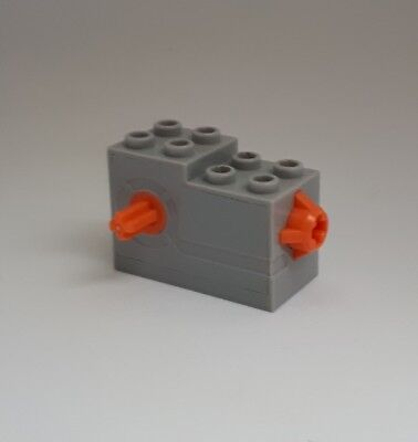 LEGO PART 61100C01 WINDUP MOTOR 2 X 4 X 2 1//3 WITH ORANGE RELEASE BUTTON