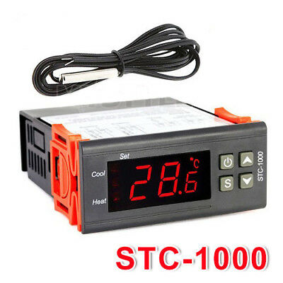 220V STC-1000 Digital Thermostat -50°~99°C Temperature Controller With Sensor