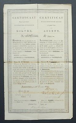 Russia - Russian Imperial Government - 1824 - 5% bond for 500 silver roubles