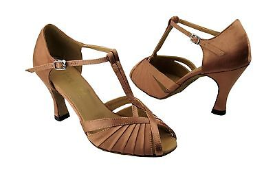 """Very Fine Dance Shoes 2707 (Competition Grade) 2.5"""" Heel Brown 7.5 B(M) US"""