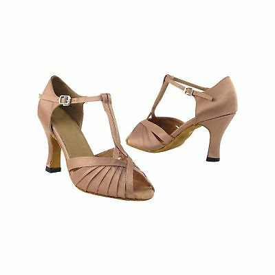 """Very Fine Dance Shoes 2707 (Competition Grade) 3"""" Heel Brown 4.5 B(M) US"""