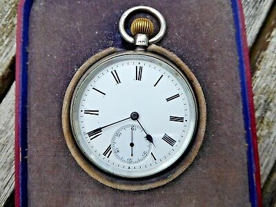 Old Silver Pocket Watch - Hallmarked  - For Spares or Repair