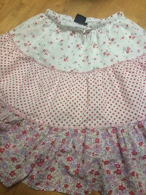Mini Boden Floral Print 3 Tiered Skirt Girls Size 9-10Y