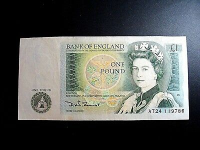 Bank Of England Britain One Pound 1981-1984  London Isaak Newton