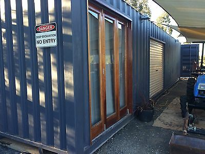 shipping container transportable home office workshop sleep out farm house