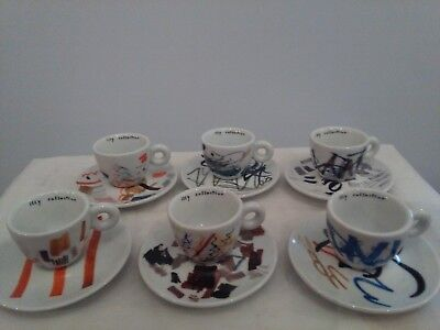 6 Tazzine Caffe' Illy Art Collection 2004 Padraig Timoney Pent Tests