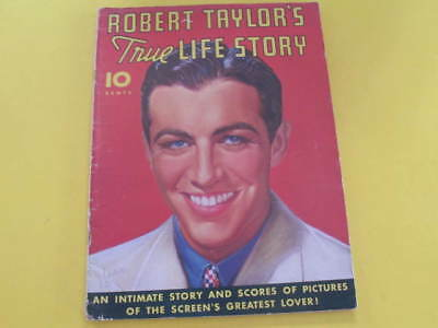 Robert Taylor True Life Story Magazine 50 pages