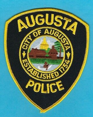 Augusta Police Department Patch ~ Maine ~ Very Nice Details & Colors ~ L@@k