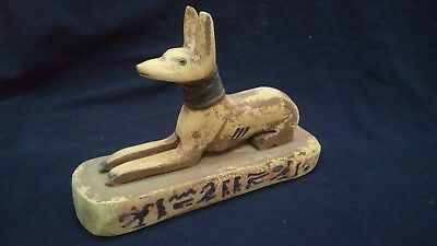 Anubis Egyptian God Figurine Statue Ancient Egypt Afterlife Jackal Sculpture