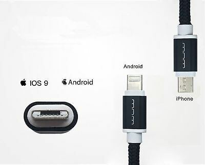 Cell Phones & Accessories Duales 2in1 Micro Usb Ladegerät Für Android Und Ios Lightning Beide Seitensilber Other Cell Phones & Accs