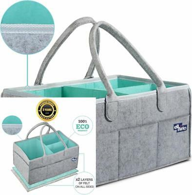 Baby Diaper Caddy Organizer - Portable Large diaper caddy tote Car Travel...