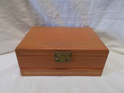 VINTAGE MELE Jewelry Box 3 Tier Pink Salmon No Key 1400